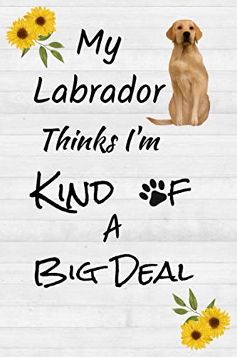 My Labrador Thinks I'm Kind of a Big Deal: Sunflower Golden/Yellow Labrador Retriever Journal, Notebook, Notepad