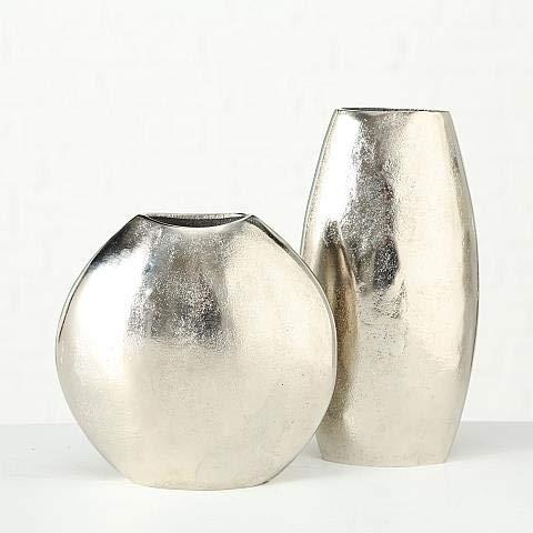 Vase Flaire, 2 sort., Deko, H 22,00 cm, Aluminium, Einfarbig