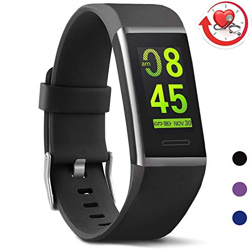 MorePro X-Core Fitness Tracker with Blood Pressure Heart Rate Monitor, 2019 Updated Activity Tracker Waterproof Health Watch, Step Calorie Counter Exercise Pedometer for Women Men