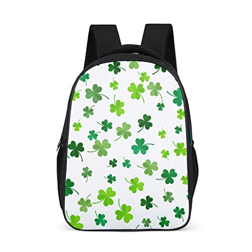 Daiyyjunn St Patrick es Day Backpack Pattern Book Bag Cute Book Bag for Leisure Daypacks Men Grey One Size