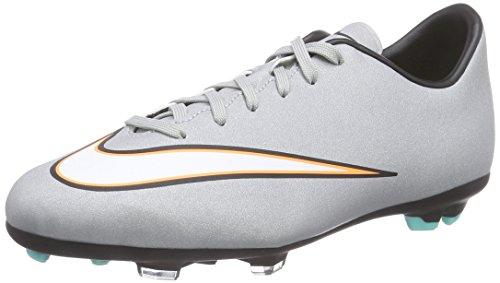 Nike Mercurial Victory V CR FG, Botas de fútbol Unisex Niños, Grau (Mtllc Silver/Blk-Hypr TRQ-Blk), 36.5 EU