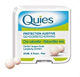 Caswell-Massey Boules Quies Ear Plugs – Natural Beeswax and Cotton Plugs for Swimming, Sleeping – Disposable, Reusable – 8 Pairs