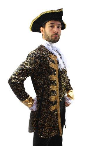 dressmeup Kostüm Edelmann Pirat Kapitän Barock Herren Gr. 52 Pirate, Nobleman