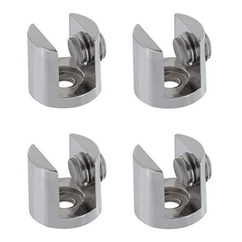 4x Glashalter in 2 Größen für Glasscheiben 4-10mm auswählbar (21mm Glasstärke: 6-10mm)