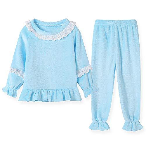 Conjuntos de Pijamas para niñosRopa de Dormir de Franela Traje de bebé de Manga Larga para niñas