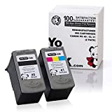 YoYoInk Remanufactured Ink Cartridges Replacement for Canon PG-40 CL-41 (1 Black, 1 Color; 2 Pack)