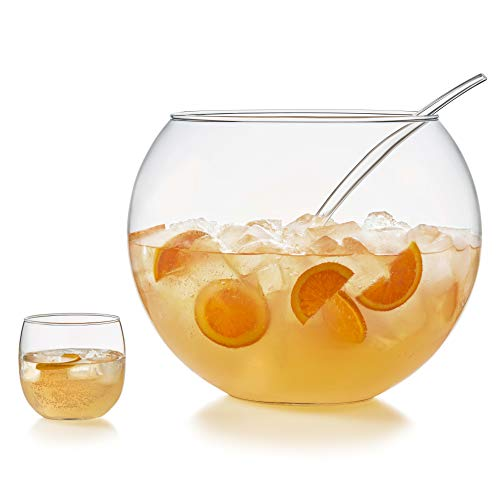 Punch Bowl Set (8 Punch Glasses, Punch Bowl and Ladle)