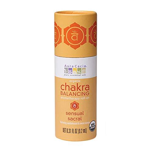 Aura Cacia Organic Chakra Balancing Roll-On, Sensual Sacral, 0.31 fluid ounce