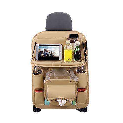 Yinuoday Autositz Organizer Rücksitz mit Sitz Aufbewahrungstasche Pu Leder Sitzlehnenschutz für Kleinkinder