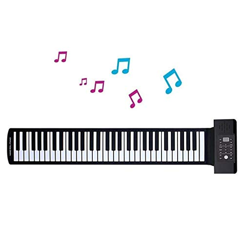 Find Discount JJCFM Hand Roll Piano, Portable 88 Keys Electronic Roll Up Piano Flexible Silicone Han...