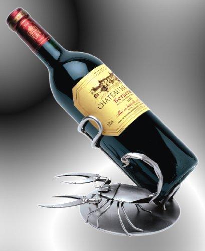 Boystoys HK Design Sternzeichen Weinflaschenhalter Tierkreiszeichen Skorpion - Metall Art Weinflaschen-Deko Geburtstagsgeschenk - Original Schraubenmännchen Kollektion - handgefertigte Geschenkidee