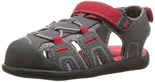 See Kai Run Boys' Lincoln III Sport Sandal, gray, 4 M US Toddler
