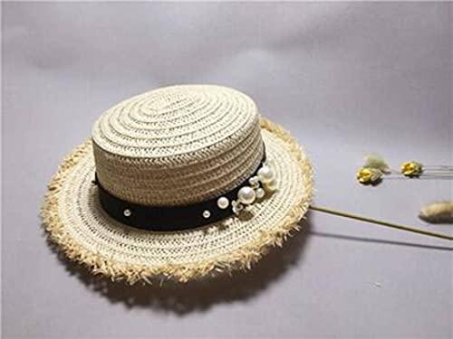 Sombreros de paja planos de moda y bonitos, sombreros de ocio para damas, sombreros de playa, sombreros de sol transpirables, sombreros de pescador, sombreros de cubo, sombreros plegables, sombreros