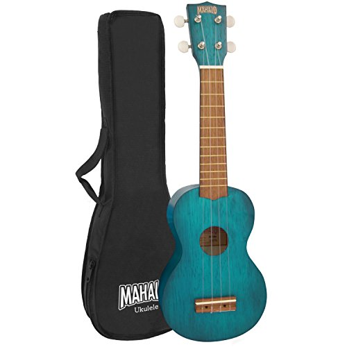 Mahalo Kahiko Soprano Ukulele, Quality Wood Ukulele with Geared Machine...