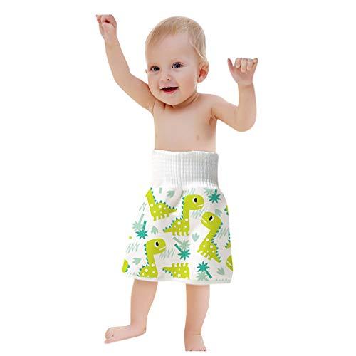 Xniral Baby Windelrock Wiederverwendbar Trainingshose 2in1 Wasserdicht Saugfähig Bequeme Kinder Shorts Töpfchen Trainingsrock Für 0-6 Jahre (L, L)