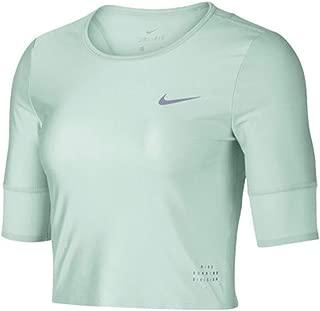 Womens Dri-Fit Running Division Crop Top Shirt Green