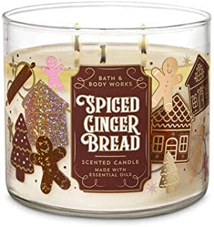 White Barn Bath & Body Works 3 Wick Candle Spiced Gingerbread