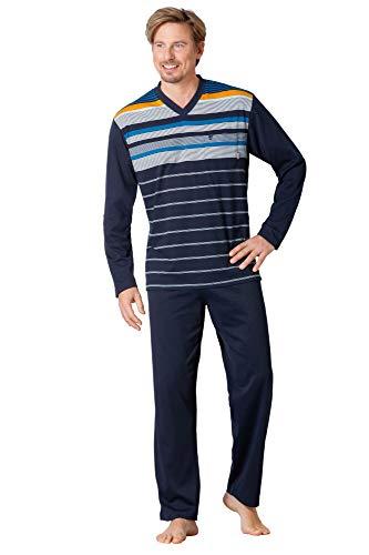 Hajo Klima Komfort Herren-Schlafanzug Single-Jersey Marine Größe 60/62