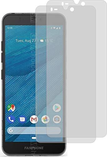 4ProTec I 2X Schutzfolie MATT passgenau für Fairphone 3 Bildschirmschutzfolie Displayschutzfolie Schutzhülle Bildschirmschutz Bildschirmfolie Folie