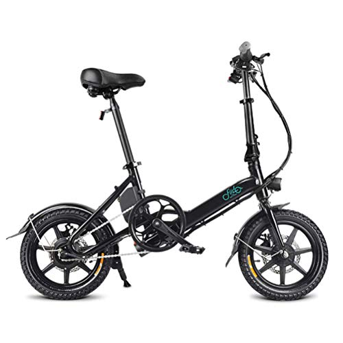 XBSLJ Scooter Escooter, Elektroscooter Faltbares Fahrrad Elektrofahrrad für Erwachsene Frauen, 250 W Elektrofahrrad 14