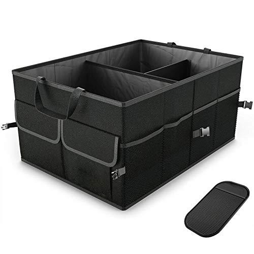 Nonebranded Organizador de Carga de Maletero Negro, Carrito Plegable, Bolsa de Almacenamiento Plegable, contenedor para Coche, camión, SUV, Caja de Almacenamiento útil