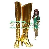 ジーン・グレイ X-メン X-Men エックスメン フェニックス Jean Grey Phoenix コスプレ 靴 ブーツ コスプレ靴 cosplay オーダーサイズ/スタイル 製作可能 【タママ】(サイズオーダー)