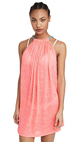 Pitusa Women's Aegean Mini Cover Up, Hot Pink, One Size