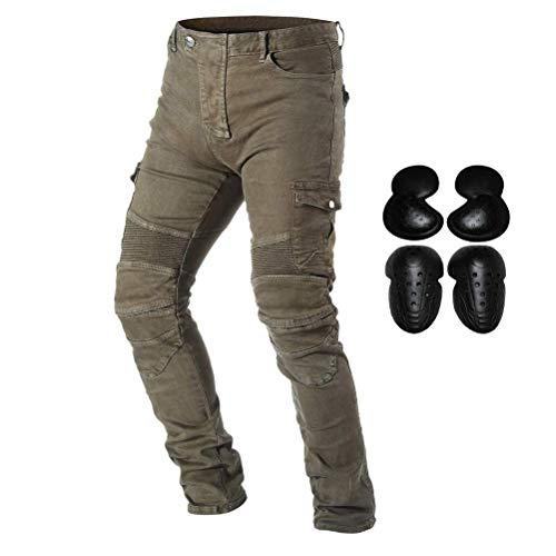 Preisvergleich Produktbild PLEASUR Motorradreithose Jeans für Männer Motocross Racing Armor Pants mit abnehmbaren CE-zertifizierten Knie-Hüftschutzpolstern