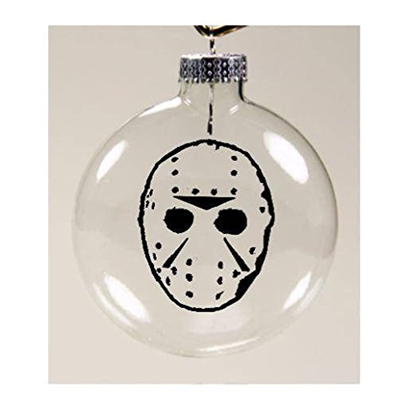 Jason Vorhees Mask Friday the 13th Ornament Glass Disc