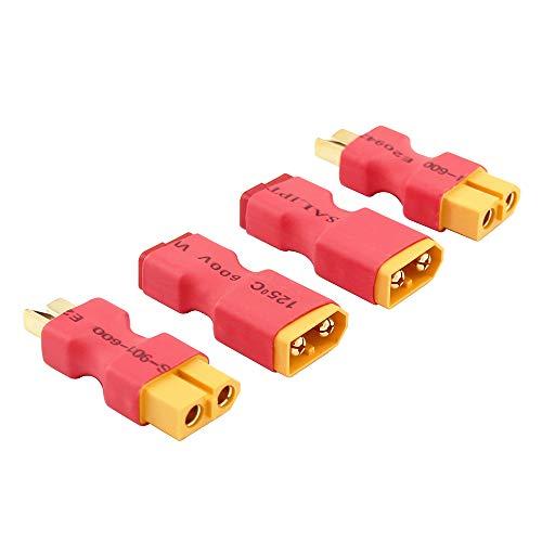 OliRC 4pcs Conector sin Cables: XT60 XT-60 a T-Plug Deans Style Macho...