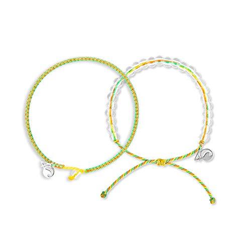 4ocean Beaded & Braided Bracelet 2-Pound Pack (Sea Star, Small)