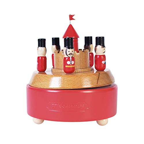 IADZ Caja de música, caja de música giratoria de madera de haya para cumpleaños, día de San Valentín, decoración de muebles