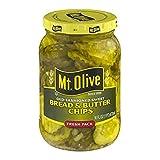 Mt. Olive Bread & Butter Chips Old Fashioned Sweet Fresh Pack Pickles Jar, 16 oz