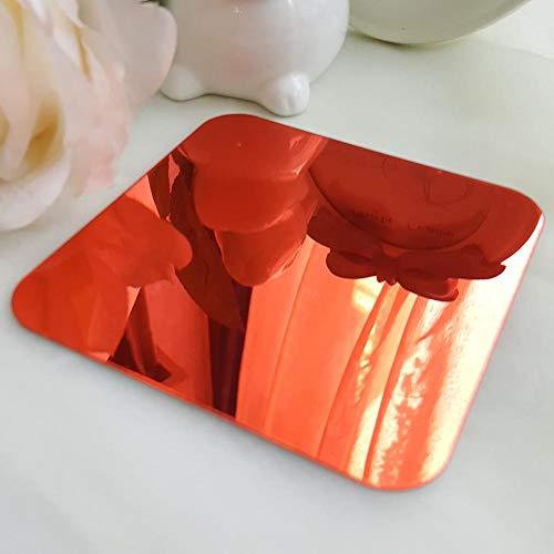 BLOUR DIY Primavera Naturaleza Flor de Hibisco Espejo Decorativo Etiqueta de la Pared decoración del hogar 3D decoración de la Pared calcomanías de la habitación Mural