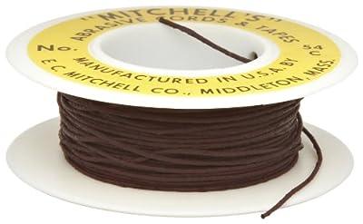 "Mitchell Abrasives 54-C Round Crocus Polishing Cord, .030"" Diameter x 25 Feet"