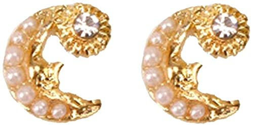 Ghlevo 2 PCS Aleación Nail Art Decoration Luxury Moon Star Nails Jewelry Long Nail Charms Múltiples Estilo (Color : Style 2)
