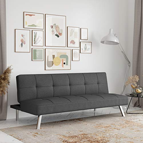 Serta RNE-3S-CC-SET Rane Collection Convertible Sofa, Charcoal