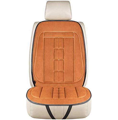 12V Universial Beheizte Auto Sitzkissen, Auto Sitz Wärmer Kissen Heizung Pad,Winter Warme, Intelligente Heizung Sitzkissen Abdeckung Fit für Auto Lieferungen (Brown,Single seat)