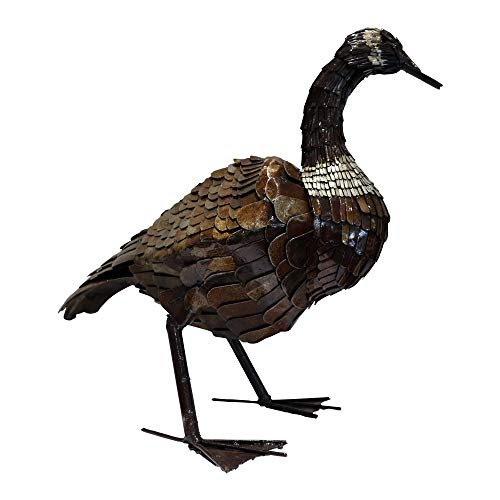 Goose 60cm Handmade Animal Metal Sculpture Art Statue for Indoor and Outdoor Ornament- Home Décor, and Garden-UK stock