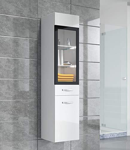 Mobiletto Rio 131 cm altezza bianco lucido - Mobiletto, armadietto per il bagno