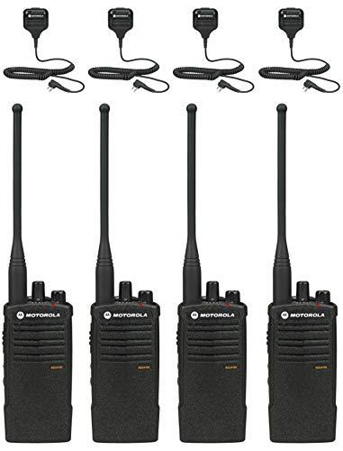 MOTOROLA SOLUTIONS RDU4100 Business Two-Way Radios with HKLN4606 Speaker Mics 4-Pack