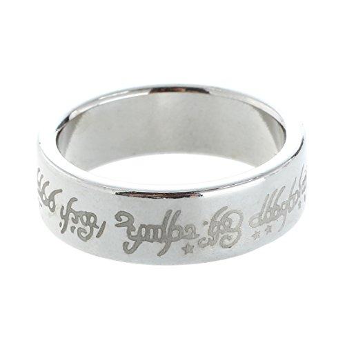 anello magnetico - SODIAL(R) 1 x magnetica anello anello magnetico anelli magici magia Trucco magico colore argento