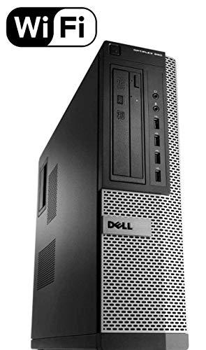 Dell Optiplex 990 Desktop Computer (Intel Quad-Core i7-2600 up to 3.4GHz, 16GB RAM, 2TB HDD, DVD, WiFi, VGA, DisplayPort, Windows 10 Professional) (i7 16GB 2TB) (Renewed)