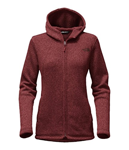 The North Face Women's Crescent Full Zip Hoodie - Barolo Red Heather - S (Past Season)