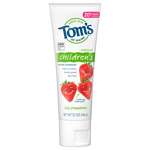Tom's of Maine Silly Strawberry Children's Anticavity Toothpaste, 144g (5.1oz)