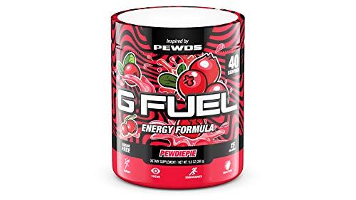 G Fuel Pewdiepie (40 Servings) Elite Energy and Endurance Formula 9.8 oz. Inspired by Pewds