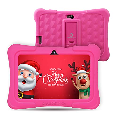 Dragon Touch Tablet para Niños con WiFi Bluetooth 7 Pulgadas 1024x600 Tablet Infantil de Android 8.1 Quad Core 1GB 16GB Doble Cámara Kid-Proof Funda Tablet Niños Educativo Y88X Plus Rosa