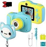 JAMSWALL Fotocamera Bambini, Fotocamera Digitale per Bambini 1080P HD, Fotocamera selfie per bambini a doppia lente da 2 pollici con scheda SD da 32 GB, Portatile Videocamera per bambini di 3-12 anni