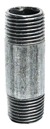 Sanitop-Wingenroth 13408 8 Temperguss geschweisstes Gewinderohr, 1/2 Zoll x 600 mm, DIN 2440, mit 2 Außengewinden, Verzinkt