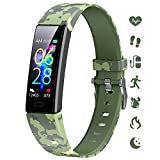 K-berho Slim Fitness Tracker for Kids Women Men,Heart Rate Monitor,IP68 Waterproof Activity Tracker for Boys&Girls,Blood Pressure,11 Sport Modes Health Smart Watch with Pedometer